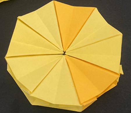菠萝手工折纸方法图解 手工折纸-第13张