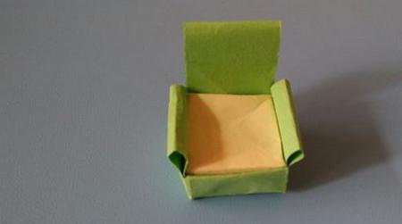 小椅子折纸步骤图解 手工折纸-第10张