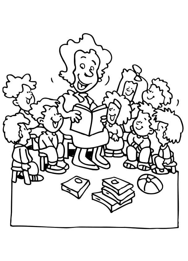 老师和学生简笔画图片 老师教导学生简笔画 老师学生手拉手简笔画 人物-第1张