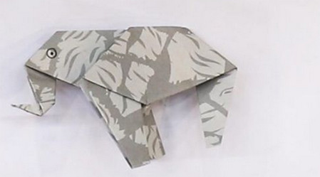 手工折纸大象的步骤图解 手工折纸-第1张
