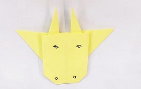 儿童手工折纸牛头步骤图解 手工折纸-第5张