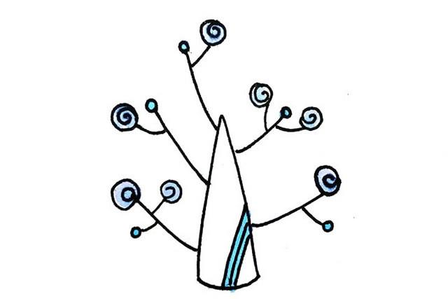 创意树木简笔画图画大全 植物-第8张