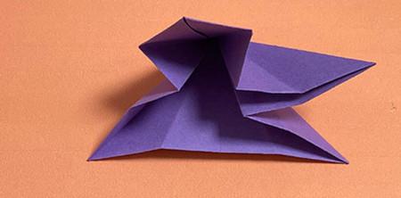 牵牛花折纸步骤图解法 手工折纸-第6张