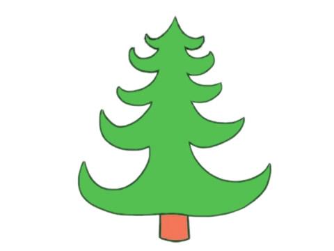 教小朋友画简单的松树简笔画 初级简笔画教程-第8张