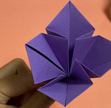 牵牛花折纸步骤图解法 手工折纸-第9张
