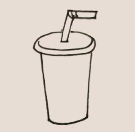 可乐杯简笔画