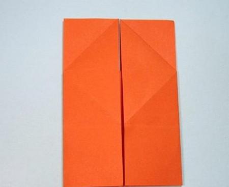 带翅膀爱心的折法图解 手工折纸-第7张