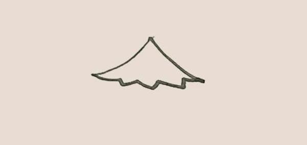 松树儿童简笔画简单好看 中级简笔画教程-第3张