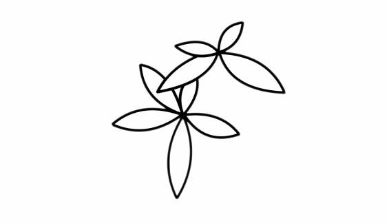 发财树儿童简笔画手绘 中级简笔画教程-第3张