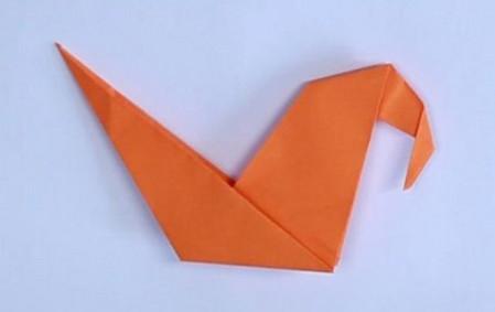 母鸡折纸步骤图解法 手工折纸-第4张