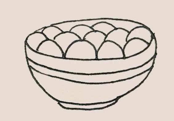 一碗汤圆简笔画