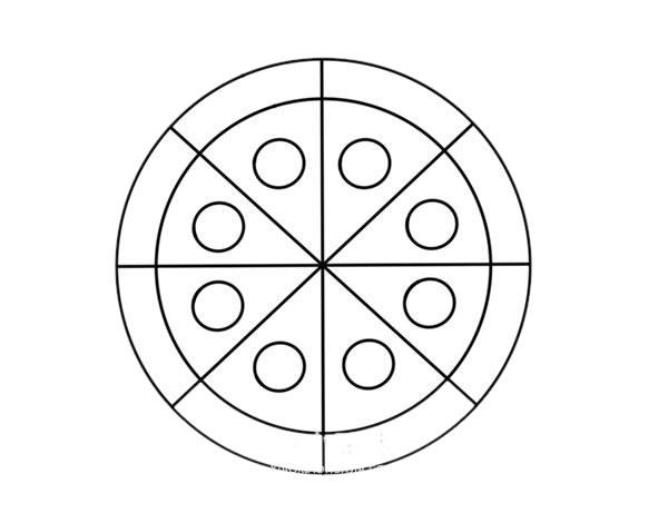 彩色披萨简笔画图片