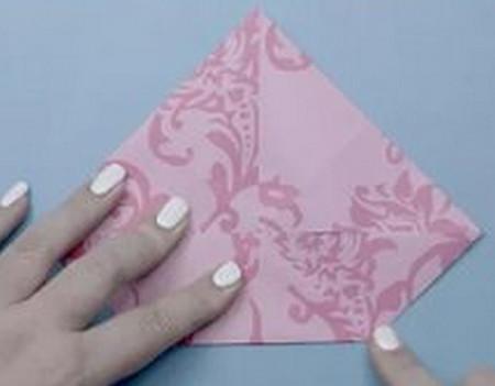 荷花怎么折简单又漂亮教程 手工折纸-第4张