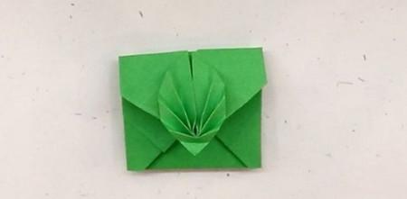 树叶信封折纸的折法图解 手工折纸-第1张
