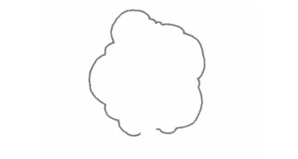 小树简笔画的画法步骤图教程 植物-第2张