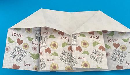 皇冠帽子折纸步骤图解 手工折纸-第5张