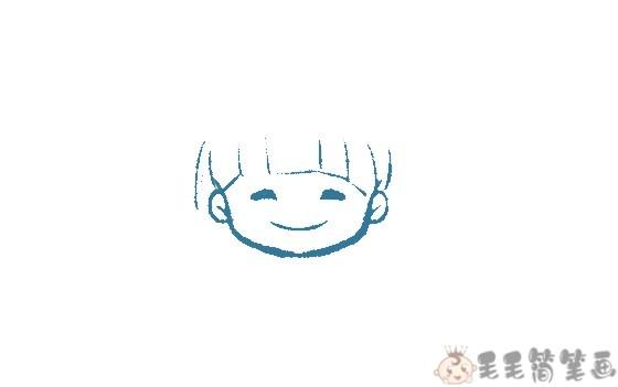 女孩简笔画法步骤图