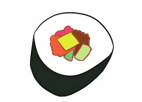 寿司简笔画图片