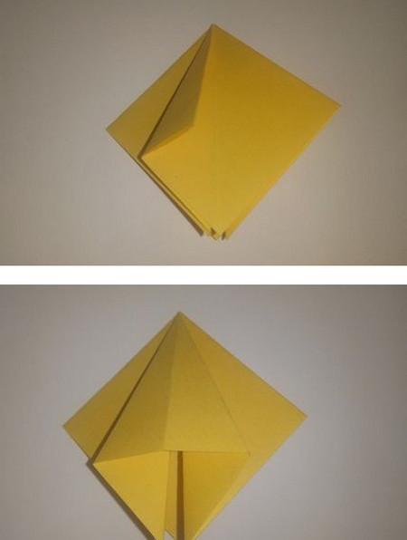 折纸太阳花步骤图解 手工折纸-第3张