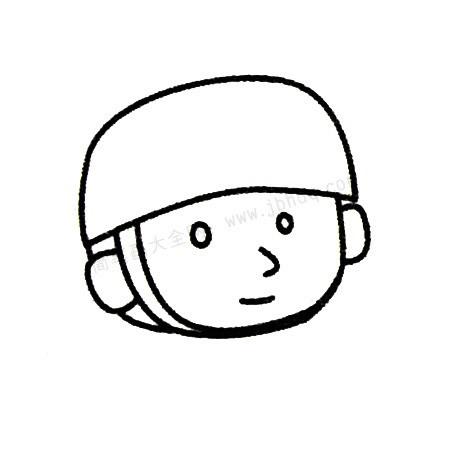 儿童画士兵简笔画画法步骤 中级简笔画教程-第4张