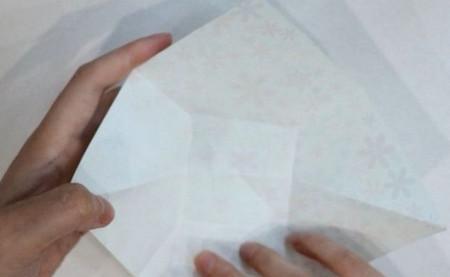 花瓶折纸步骤图解 手工折纸-第6张