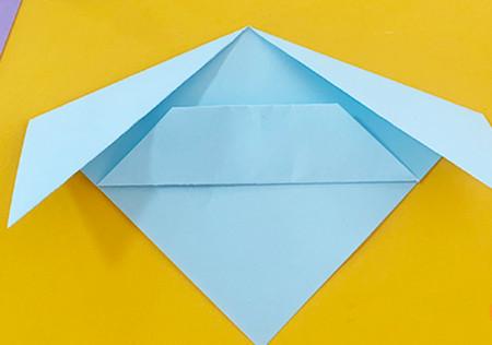 简单手工折纸小狗的步骤图解 手工折纸-第8张