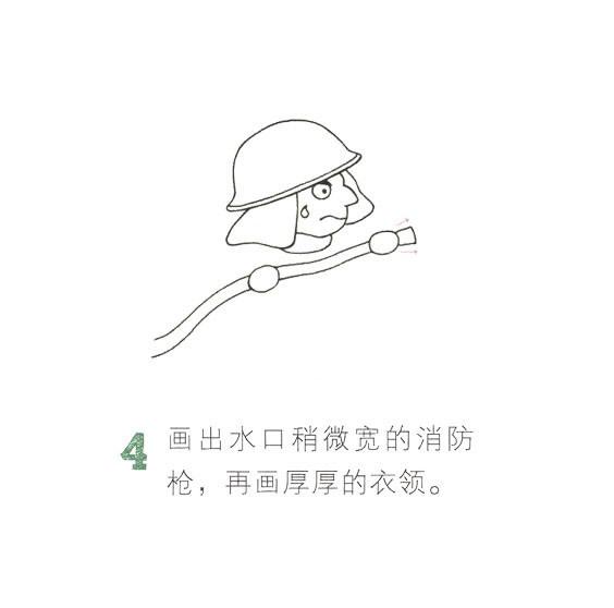 儿童简笔画消防员画法教程 中级简笔画教程-第5张