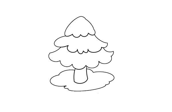 松树简笔画画法步骤图片 中级简笔画教程-第5张