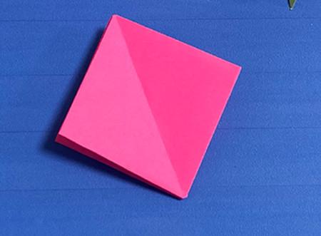 花骨朵折纸的折法图解 手工折纸-第6张