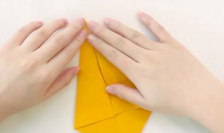 小猫立体折纸步骤图解法 手工折纸-第2张