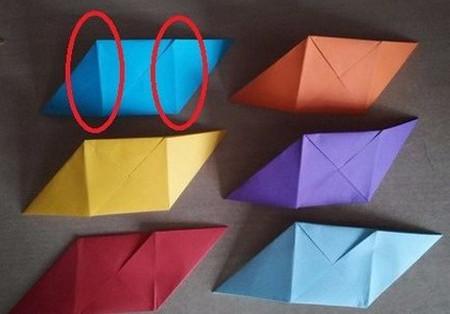 彩色立方体折纸教程 手工折纸-第10张