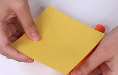 伸缩扇子的折法图解 手工折纸-第14张