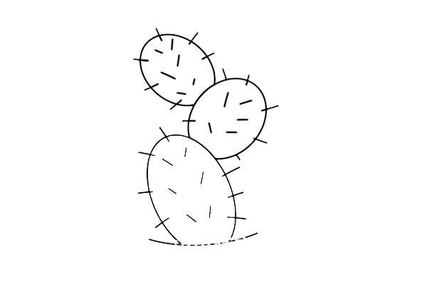 彩色仙人掌简笔画画法步骤图片 初级简笔画教程-第3张