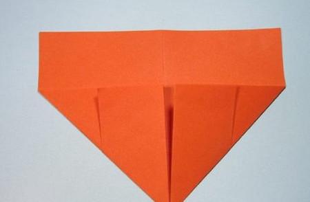 带翅膀爱心的折法图解 手工折纸-第5张