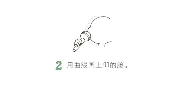 全彩女歌手简笔画画法教程 中级简笔画教程-第3张