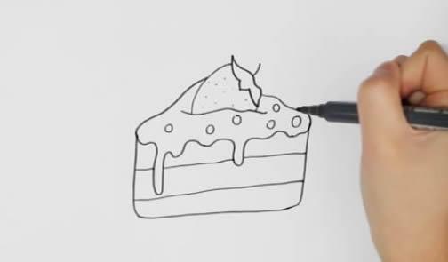 蛋糕怎么画简笔画简单又好看