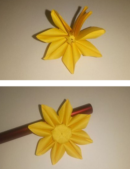 折纸太阳花步骤图解 手工折纸-第1张
