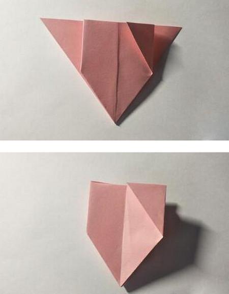 五角星花折纸教程图解 手工折纸-第8张