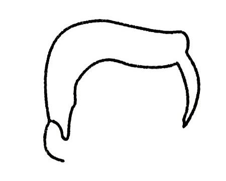 爸爸头像简笔画画法步骤 中级简笔画教程-第3张