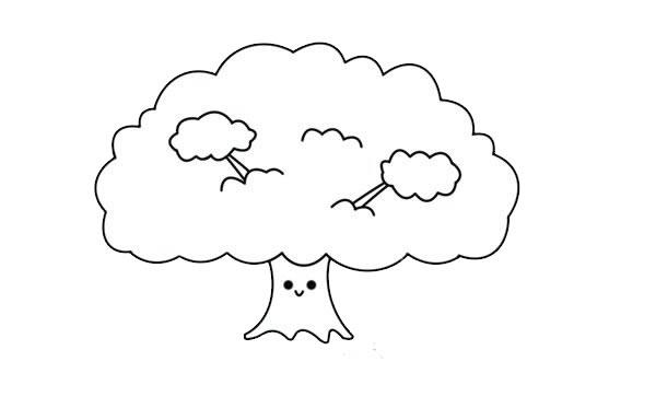 简单漂亮的大树简笔画图片 初级简笔画教程-第4张