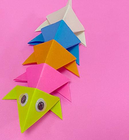 蜈蚣折纸图解步骤 手工折纸-第1张