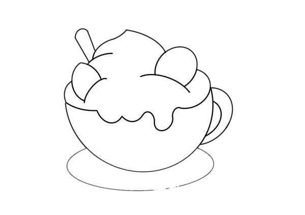 一杯奶昔简笔画画法图片