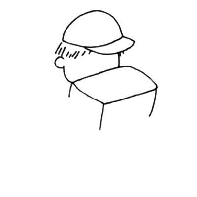 快递小哥简笔画绘画教程 人物-第3张