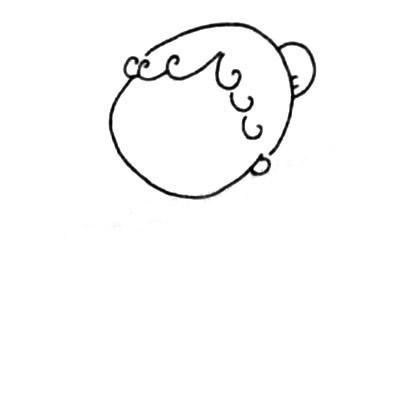 服务员儿童简笔画图片 中级简笔画教程-第2张