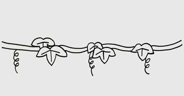 葡萄树简笔画画法步骤 初级简笔画教程-第3张