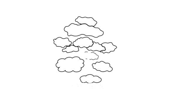 彩色柞树简笔画的画法步骤教程 中级简笔画教程-第4张