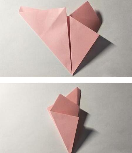 五角星花折纸教程图解 手工折纸-第5张