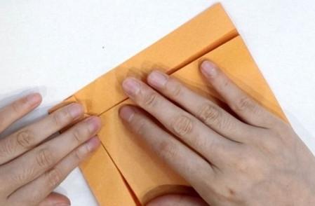 长方形信封的折法图解 手工折纸-第8张