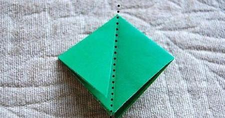 四叶草手工折纸步骤图 手工折纸-第4张