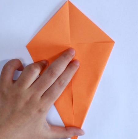 母鸡折纸步骤图解法 手工折纸-第2张